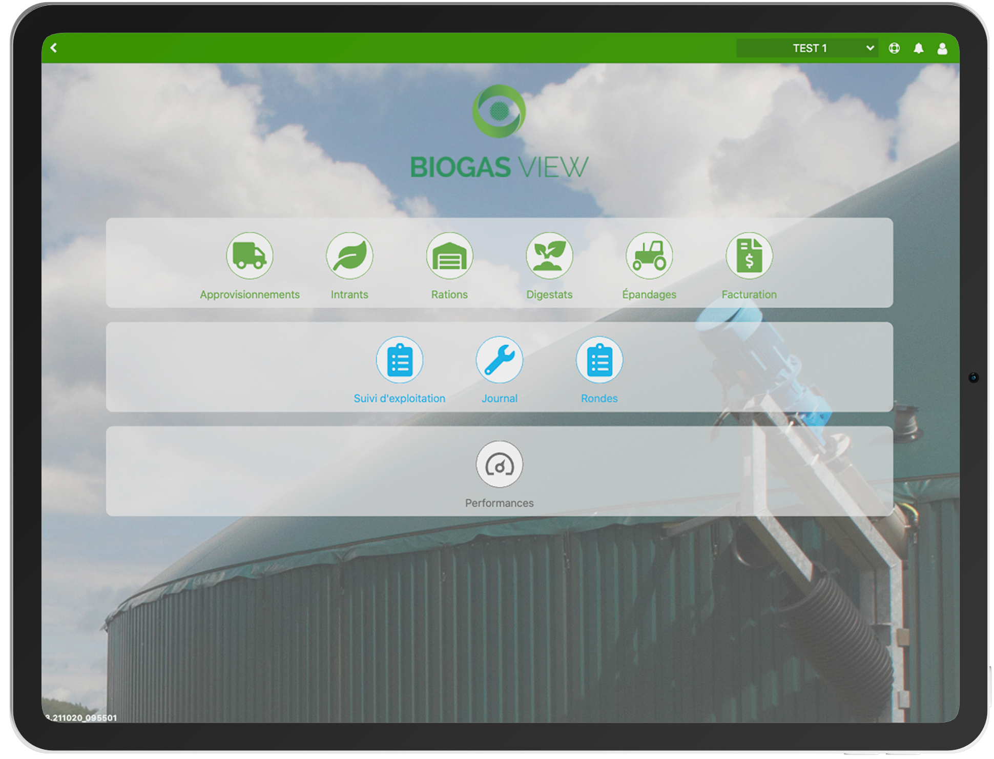 Interface Biogasview